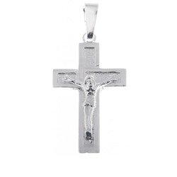 Krzyżyk srebrny z wizerunkiem Jezusa  MO034