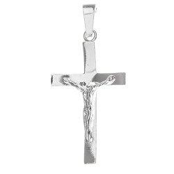 Krzyżyk srebrny z wizerunkiem Jezusa  MO093