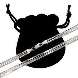 Łańcuszek srebrny pr. 925 rombo 5,9 mm 1 mm GRD100
