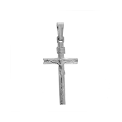 Medalik srebrny - Krzyżyk z  wizerunkiem Jezusa MO043