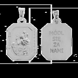 Medalik srebrny - Święty Krzysztof M115