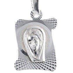 Medalik srebrny diamentowy - Matka Boska MD17