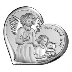 Obrazek srebrny Anioł Stróż 6526