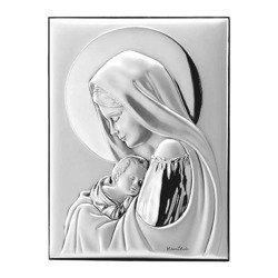 Obrazek srebrny Matka Boska z dzieciątkiem 30695