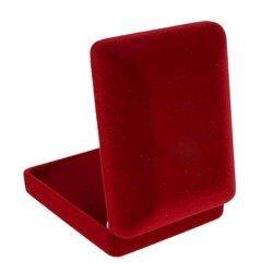 Pudełko flokowe czerwone P7/FLOKCZERW