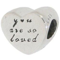 Srebrna przywieszka pr 925 Charms Serce You are so loved PAN156