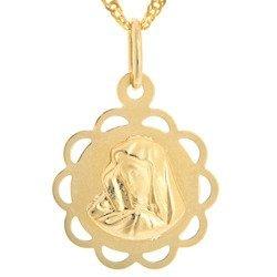 Złoty medalik pr. 585 M.B. Bolesna kwiatek  ZM056