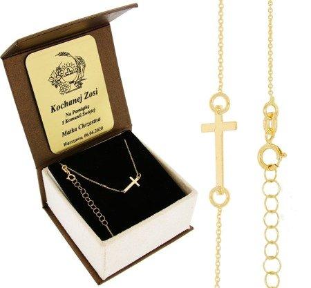 Celebrytka złota naszyjnik z krzyżykiem krzyżyk ZCEL002/BA-3