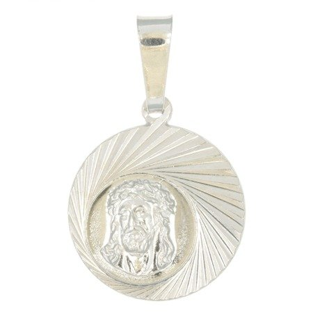 M67 Medalik srebrny - Jezus w koronie cierniowej
