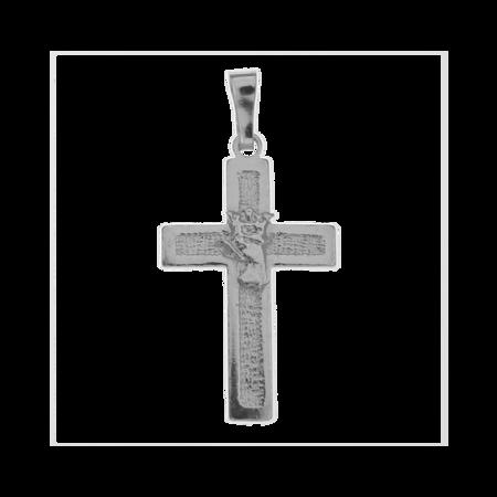 Medalik srebrny - Krzyżyk z Orłem w koronie MO129