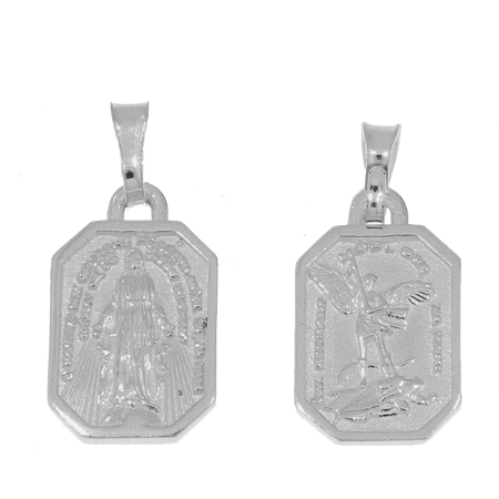 Medalik srebrny - Matka Boska Niepokalana i Michał Archanioł