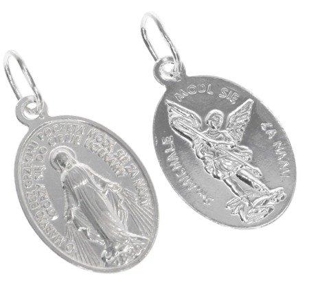 Medalik srebrny - Matka Boża Niepokalana i Michał Archanioł ML008
