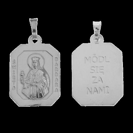 Medalik srebrny - Święta Barbara M116