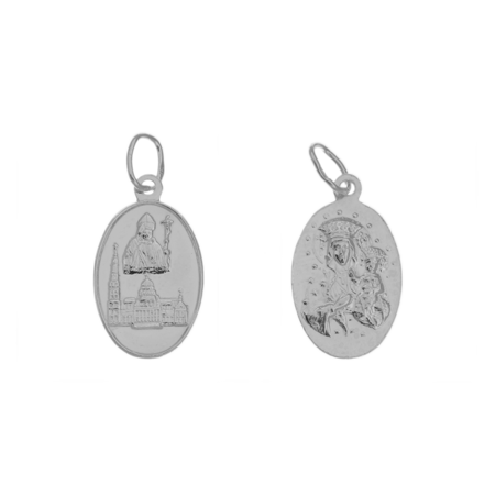 Medalik srebrny - Święty Benedykt ML019