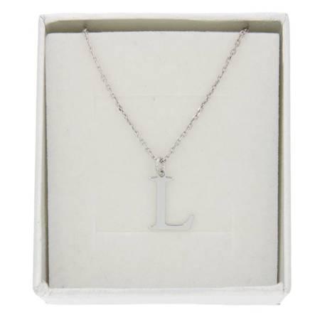 Naszyjnik celebrytka literka L 1,0 cm srebro rodowane pr 925 CELL1CM