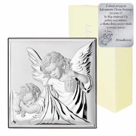 Obrazek srebrny Aniołek z latarenką 81200