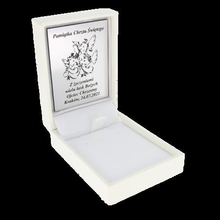 Pudełko skórzane białe PDH-3/A1/GS