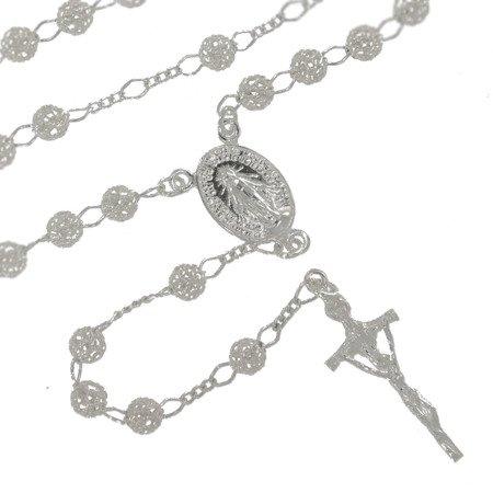 Różaniec srebrny - 5 dziesiątek 14,0-14,4 g, srebro pr. 925 RC015