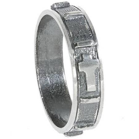 Różaniec srebrny obrączka na palec oksydowana, rozmiary 9-35  Srebro pr. 925 RPM06