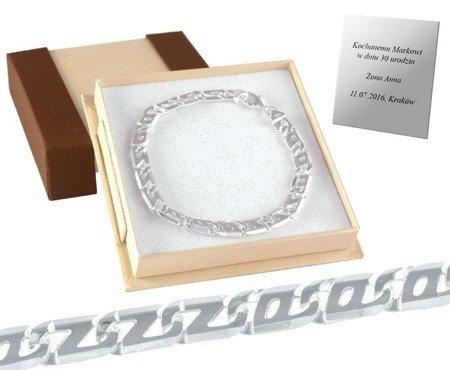 Srebrna bransoleta męska, srebro pr 925 BRANM006/P3