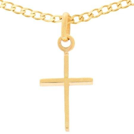 Zestaw złoty pr. 585 krzyżyk z łańcuszkiem ZK026/ZL019-50