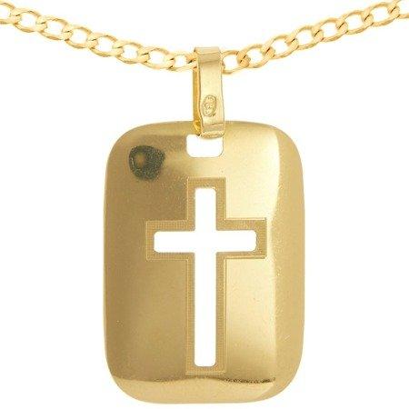 Zestaw złoty pr. 585 krzyżyk z łańcuszkiem ZK057/ZL016-55