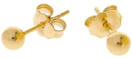 Złote kolczyki pr. 585 kulka Średnia sztyft ZA005