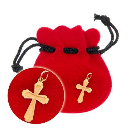 Złoty krzyżyk pr. 585 Krzyżyk ażur ZK043
