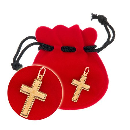 Złoty krzyżyk pr. 585 Krzyżyk z Jezusem ZK052