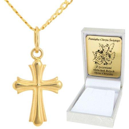 Złoty łańcuszek z krzyżykiem pr. 585 ZK040/ZL013-45/PZH-3/A1/GZ