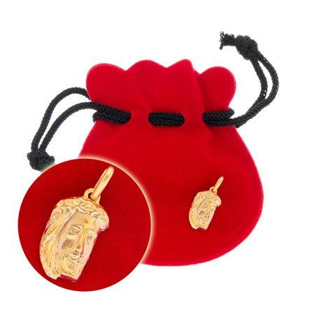 Złoty medalik pr. 585 Jezus twarz 3D  ZM071